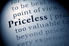 Priceless Stock Photo
