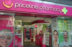 Priceline Pharmacy store on Oxford st. Priceline is one of the largest Australian health and beauty retailers, owned and operated. Sydney, Australia - October 17 Stock Photography