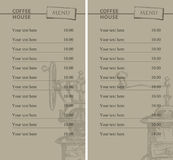 Prices for coffee Stock Photography
