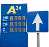 The prices for gasoline Royalty Free Stock Photos