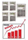 Prices inflation Stock Images