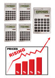 Prices inflation Stock Photos