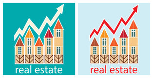 Prices for real estate. Shows a rise in prices for real estate Royalty Free Stock Photography