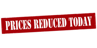 Prices reduced today Royalty Free Stock Images