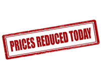 Prices reduced today Stock Photo