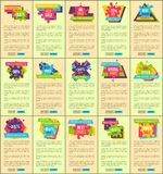Prices Reduction Up to 90 Internet Pages Set. Prices reduction up to 90 advertisement Internet pages set with signs on paint blots and sample texts isolated Stock Photo