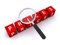 Prices search Royalty Free Stock Photos