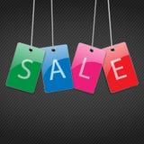 Pricetag met witte linten Stock Afbeeldingen