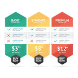 Pricing List. Vector Royalty Free Stock Photo