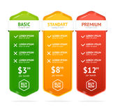 Pricing List. Vector Royalty Free Stock Image