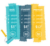 Pricing List. Vector Stock Photo
