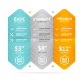 Pricing List. Vector Royalty Free Stock Images