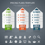 Pricing Plan Template Royalty Free Stock Image