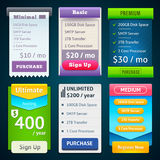Pricing Table Template Royalty Free Stock Images