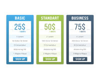Pricing Table Royalty Free Stock Image