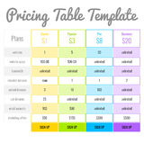 Pricing Table For Your Website Stock Photos