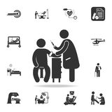 Prick a patient illustration icon. Detailed set of medicine element Illustration. Premium quality graphic design. One of the colle. Ction icons for websites, web Royalty Free Stock Photos