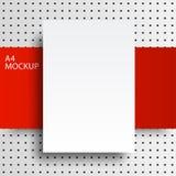 röd line2-01 för pappers- modell a4 Fotografering för Bildbyråer