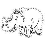 Prick som pricker noshörningleken Arkivfoto