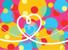 prickar kretsar den psychedelic förälskelsepopen Fotografering för Bildbyråer
