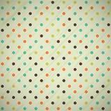 Pricker retro bakgrund för Grungetappning med polka Arkivbilder
