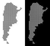 Prickig Argentina översikt royaltyfri illustrationer