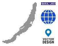 Prickig Baikal sjööversikt vektor illustrationer