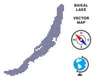 Prickig Baikal sjööversikt stock illustrationer