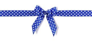 prickig blå bow Arkivbilder