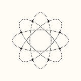 Prickig geometrisk form för vektor royaltyfri illustrationer