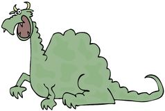 Prickig grön drake Arkivfoton
