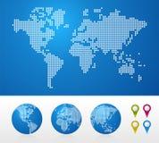 prickig jordklotöversiktsvärld Arkivbilder