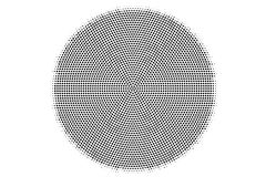 Prickig rastrerad vektorbakgrund för svart vit Smooth centrerade prickig lutning Royaltyfri Bild