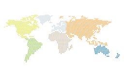 Prickig världskarta i perspektiv vektor illustrationer
