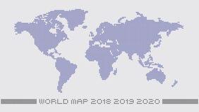 Prickig världskarta vid cirkelprickar royaltyfri illustrationer