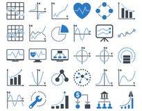 Prickiga diagramsymboler royaltyfri illustrationer