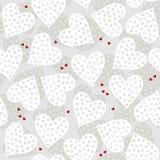 Prickiga hjärtor på ljus - grå färg Royaltyfria Foton
