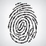 Prickigt fingeravtryck vektor illustrationer