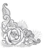 Prickigt steg med sidor, och dekorativt snöra åt i svart på vit bakgrund vektor illustrationer