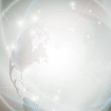 Prickigt världsjordklot, ljus designvektor stock illustrationer