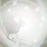 Prickigt världsjordklot, ljus designvektor royaltyfri illustrationer