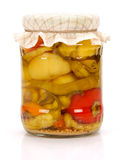 Pickled bell peppers Stock Images
