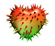 Prickly heart. Royalty Free Stock Photography