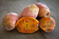 Prickly Pear Cactus Fruit. Prickly Pear Cactus slice Fruit Stock Photos