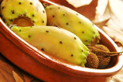 Prickly pear fruits Stock Images