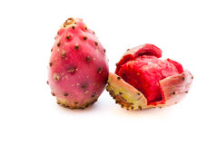 Prickly pear fruits closeup  on white background Stock Image