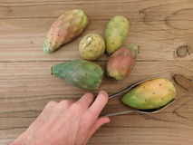 Prickly pear to eat Royalty Free Stock Photo