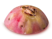 Prickly pears, opuntia, indian fig isolated on white background Stock Photos