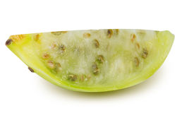Prickly pears, opuntia, indian fig isolated on white background Royalty Free Stock Photography