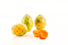 Prickly Pears. Ripe and ready to eat Prickly Pears displayed on table stock photo